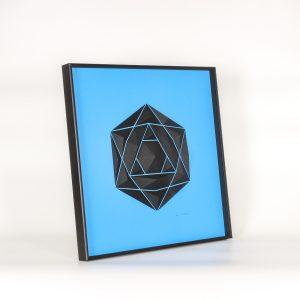 Deep black aluminum frame glazed.