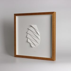Deep wooden frame with optional glazing.