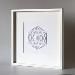 Deep white wooden frame glazed.