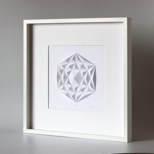 Deep white wooden frame glazed.